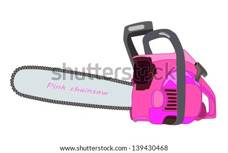 pink chainsaw vector