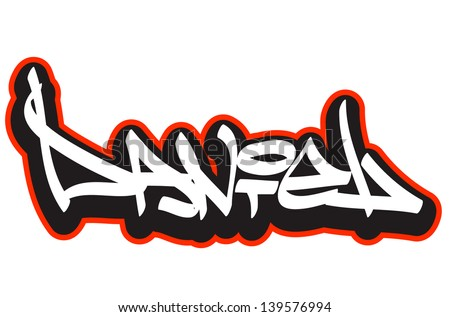daniel graffiti font style name