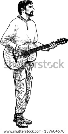 Sketches Of Guitars Free Vector Download 3005 For