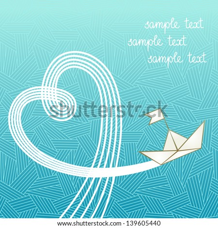 vector background with sea