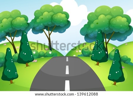 illustration of a road passing
