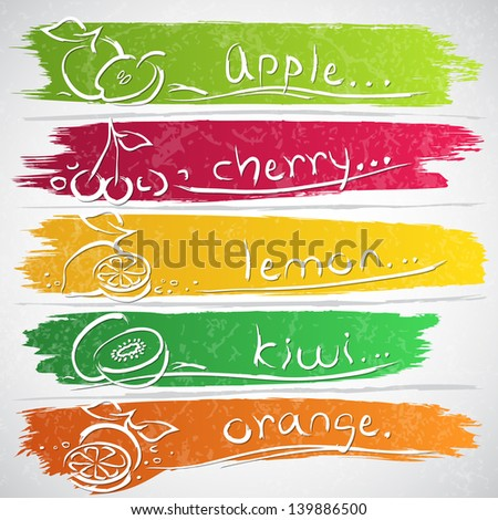 vector illustration of colorful