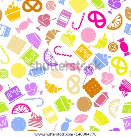 candy vector icons set colorful
