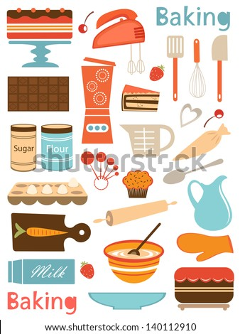 colorful baking icons