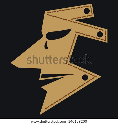 brown man mask isolated on