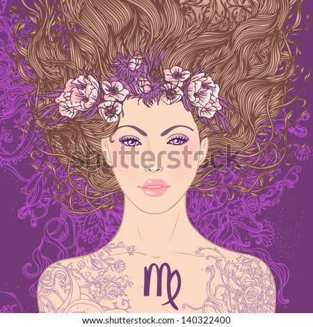 illustration of virgo
