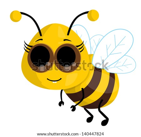 cute cartoon bee