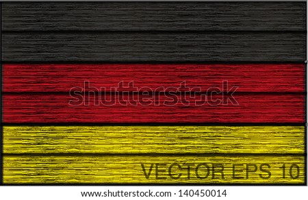german flag in wooden planks