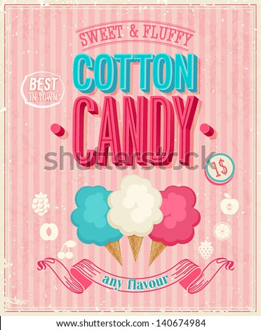 vintage cotton candy poster