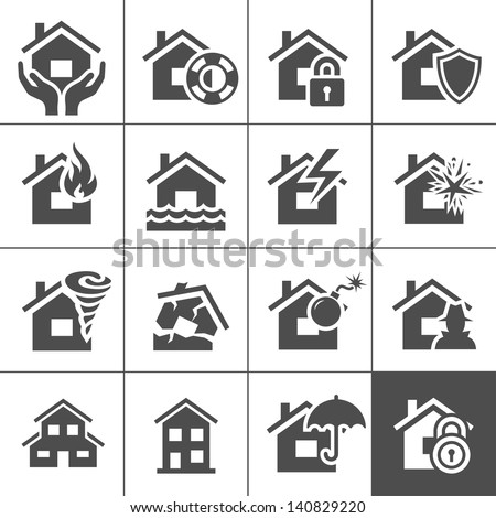 property insurance icon set
