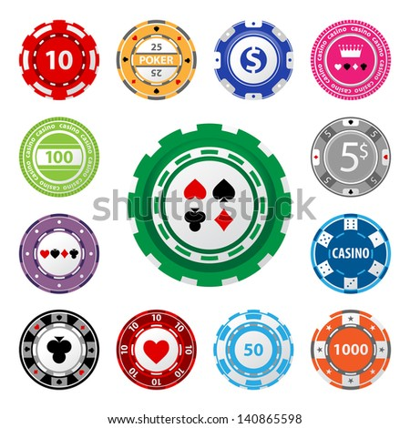 great set of gambling chips for