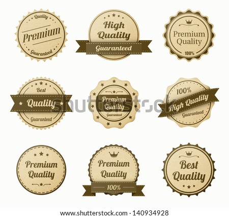 retro vintage labels set