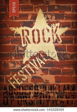 rock festival poster raster