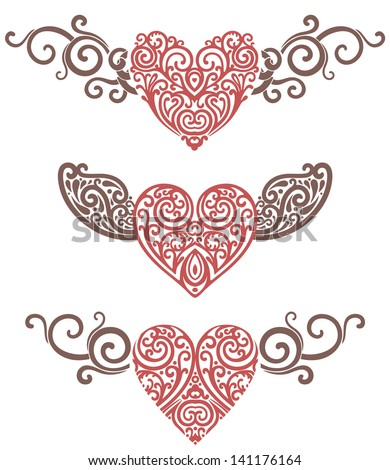 vector illustration of hearts