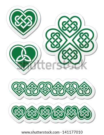 celtic green heart knot