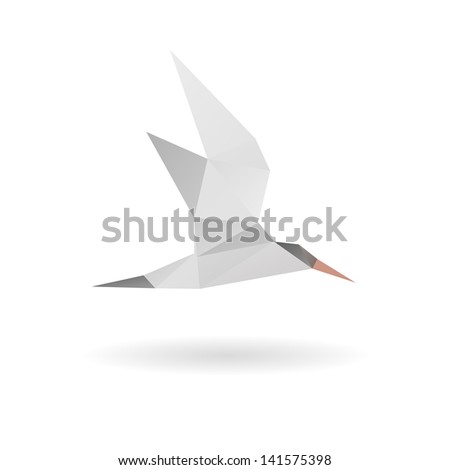 seagull isolated on a white