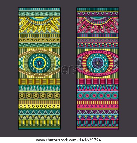 abstract vector tribal ethnic