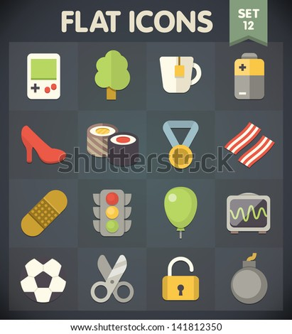 universal flat icons for web
