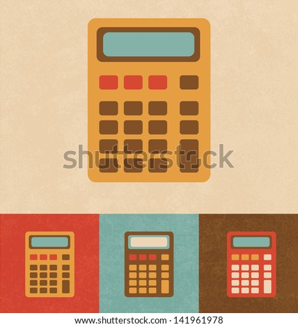 retro icons   calculator