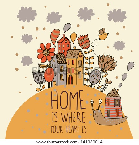 home concept card vector