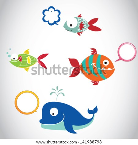 cartoon funny fish illustration