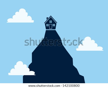 house on a tall cliff