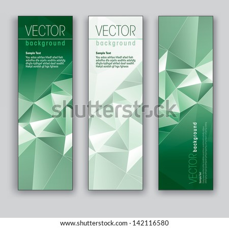abstract banners set of three