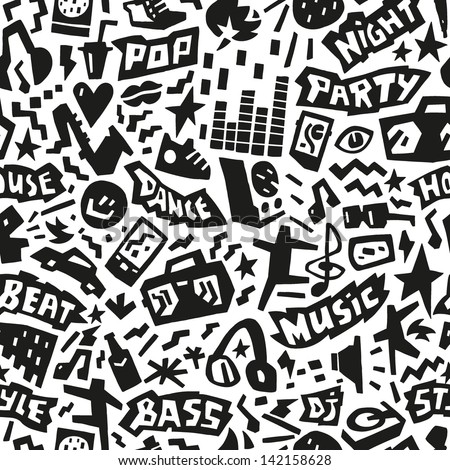 music party   seamless vector