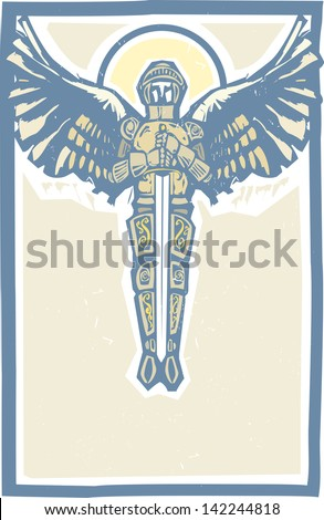archangel michael in armor and