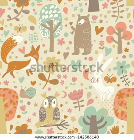 vintage floral seamless pattern