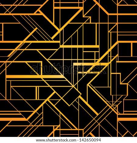 Art Deco Geometric Pattern 1920s Style Shutterstock eps Vector