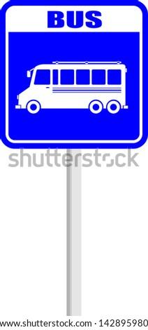 sign  bus  blue