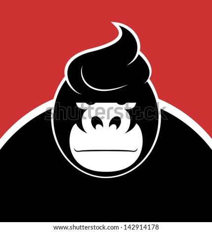 serious face gorilla with a