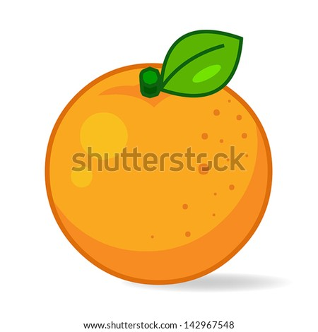 orange vector  isolated on