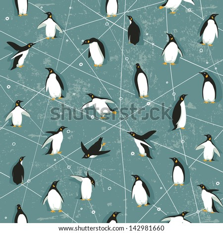seamless pattern with little