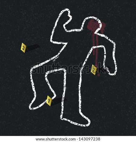 crime scene illustration