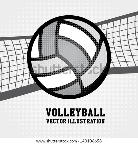 volleyball sport over dotted