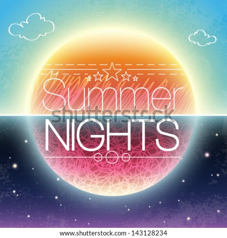 vector abstract summer brochure