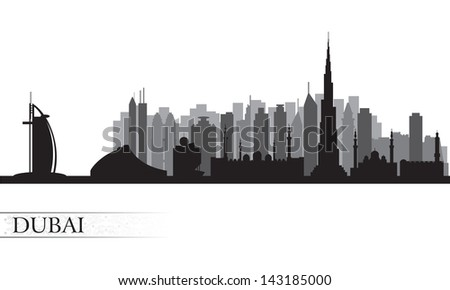 dubai city skyline vector