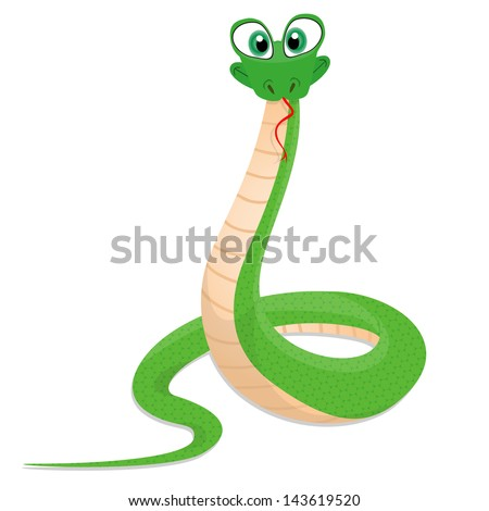 illustration of a funny snake