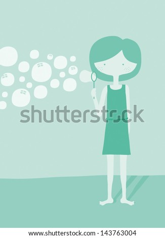 mindfulness   bubbles vector