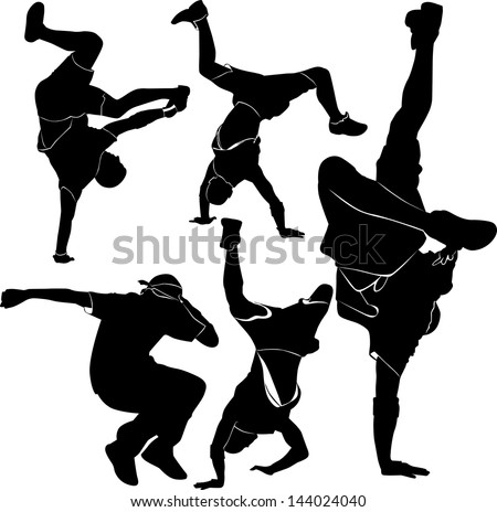 breakdance silhouette break