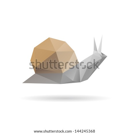 snail abstract isolated on a