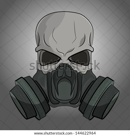 skull in gas mask
