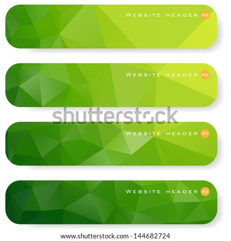 abstract green banner