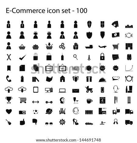 100 ecommerce icons set of