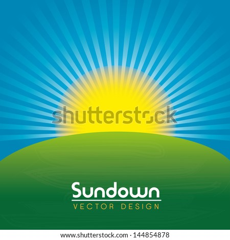 sundown design over landscape