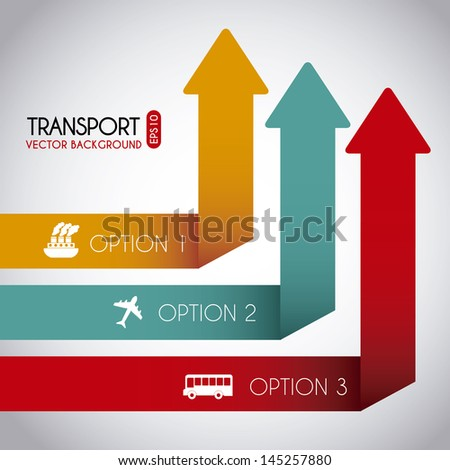 transport infographics over
