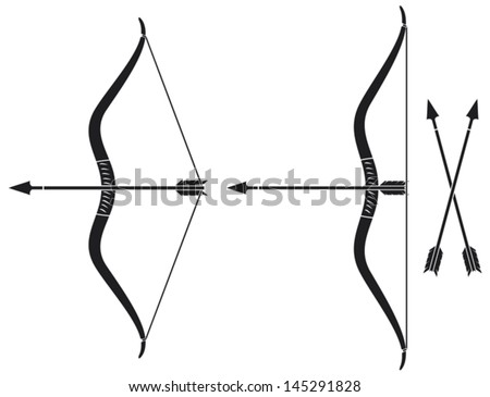 bow and arrow  vector bow