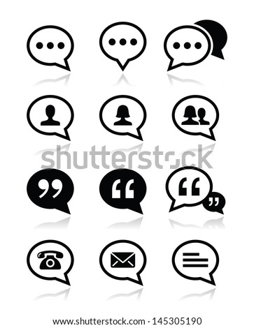 speech bubble  blog  contact